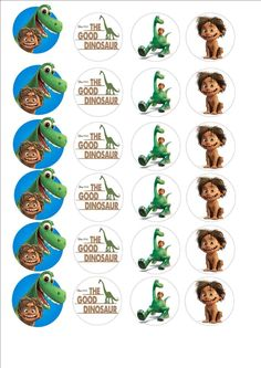 The Good Dinosaur Fairy cup cake decoration toppers x 24 on ICING in Crafts, Cake Decorating Dinosaur Birthday Party, 2nd Birthday Parties, Arlo Und Spot, Dinosaur Printables, Fairy Cakes, Circle Labels, The Good Dinosaur, Bottle Cap Images, Icing
