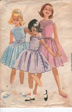 ¿Dónde quedaron estos vestidos? VINTAGE 1960 MCCALLS 5385 SEWING PATTERN GIRLS DRESS                                                                                                                                                                                 More