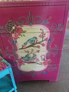 cute bird dresser