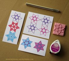 islamic art geometric arabic stamp carving block - ختم نقوش اسلامية Stamp Carving, My Stamp, Islamic Art, Coasters, Stamps, Seals, Coaster, Stamping, Postage Stamps