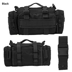 Tek Deployment Bag  Tactical Waist Pack  Camping Military Style Rucksack Black >>> Check out the image by visiting the link.