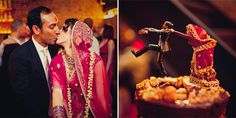 Love this Fusion Indian wedding - such great color and energy!