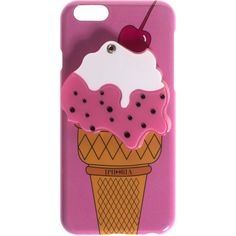 IPHORIA Ice Cream Pink iPhone 6 case ($54) ❤ liked on Polyvore featuring accessories, tech accessories, phone cases, phone, carcasas and case