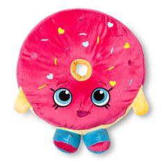 "Donut Decorative Pillow (14""x13"") Pink - Shopkins, Dark Pink"