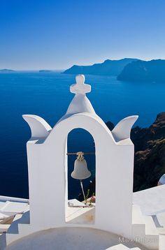 Bell Tower on the Santorini Caldera