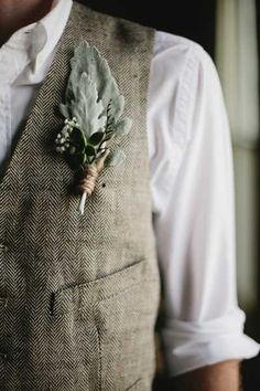 groom in a tweed vest