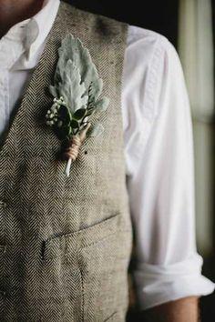 groom in a tweed vest