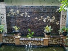 Water Fall And House Wall : ... on Pinterest  Garden waterfall, Waterfalls and Backyard waterfalls