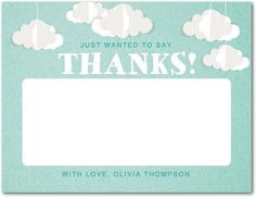Cloudy Delight: Basil - Thank You Cards in Basil   Smudge Ink