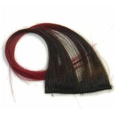 "10"""" Clip-In Human Hair Streaks, Black with Vampire Red Tips"