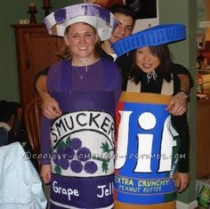 Peanut Butter and Jelly Couple Costume