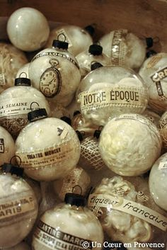 The black caps just top these filled baubles off nicely!