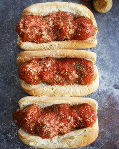 I decided to call these the best vegan meatball subs ever because, well, they are - thanks to the super delicious chickpea meatballs! After updating my recipe for chickpea meatballs, I decided to make meatball subs with them. Sometimes you just need the comfort food that is a carb-enwrapped, saucy meatball sub, amiright? I am not even exaggerating here: this has to be in my top 10 recipes right now. Maybe even top 5. They are SO INCREDIBLY DELICIOUSLY AMAZING. SO satisfying...