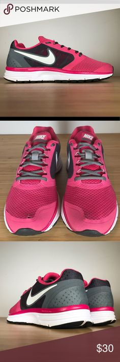 size 40 26465 c1680 Nike Zoom Vomero+ 8 sz 8 580593-610 pink grey shoe Pre-owned