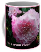 Pink Flower Birthday Greeting Coffee Mug by Joan-Violet Stretch