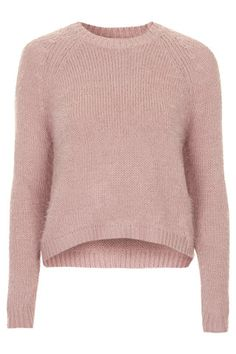Fluffy Crew Neck Jumper - Sweaters - Knitwear - Clothing
