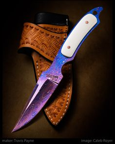 "From the 2017 Lone Star Knife Expo in Dallas, TX  T-EDC by Travis Payne  Carbon damascus & ivory. 4 1/2"" blade. 7"" overall.  website: tbonescustomcreations.com  #calebroyerphotography #knife #knifemaking #knives #customknives #handmadeknives #knifecommunity #handmade #knifeart #knifepics #imagecalebroyer #steel #edge #sharp #cutlery"