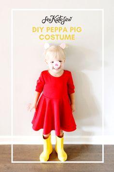 Peppa Pig Costume DIY - see kate sew