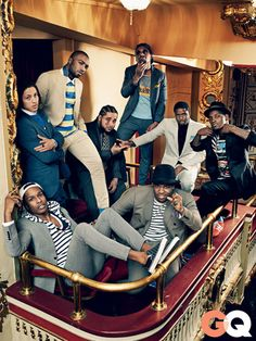 A$AP Mob & Cam'ron in 'Harlem Reshuffled' for GQ