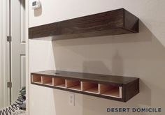 DIY Chunky Wooden Floating Shelves: Round 2 | Desert Domicile