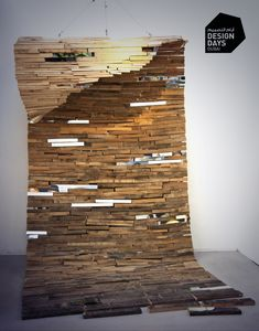 In with the Tide by Lee Borthwick presented by @DesignDaysDubai exhibitor Crafts Council UK Lee used driftwood, reclaimed wood and mirrors to produce this piece. Lee is one of the 10 designers presented by @craftscouncil this year at @DesignDaysDubai