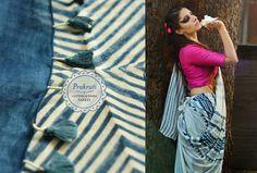 Buy here ~ http://shop.gaatha.com/buy-cotton-linen-indigo-saree-online  When…