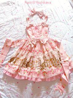 cat cherry JSK  ( Pink X Pink ) 0v0