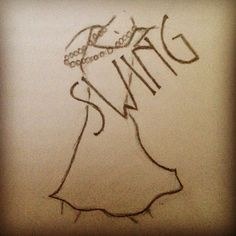 Swing Dancing Doodle-could also make a cool tat?