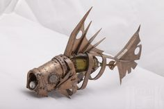 Steampunk fish sculpture by HeretikGifts on Etsy, $100.00