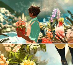 Spring Time Penguin 02.