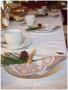 Weihnachten Tischdeko Shabby Chic Vintage