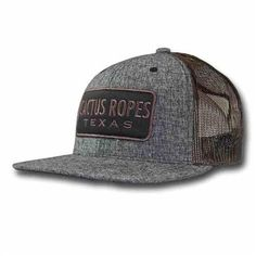 Men s Cactus Ropes Hooey Snap Back Trucker Hat d0f08043dbbc