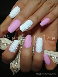 Valentines Day Nails  | See more nail designs at www.nailsss.com/...