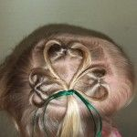 When day, when I have a daughter, I will do this to her hair on St. Patrick's Day.