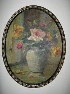 Vintage Oil Painting Original Still Life Floral by gatormom13, $180.00