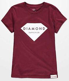 0189fe6e Solid Stone Burgundy Boyfriend T-Shirt Diamond Supply Co, Boyfriend