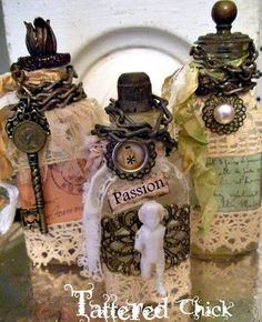 altered bottles #diy #crafts