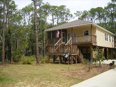House in the Woods/Short Walk to Beach-Snowbird SpecialVacation Rental in Dauphin Island from @HomeAway! No ocean views. 1/4 mile to the beach. $750 for 5 nights. Police discount