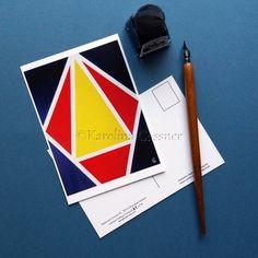 Limited Edition Postcard - Balanced Colours #3 - Abstract Mini Art Print