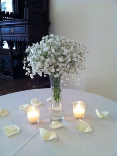 Baby's Breath centerpiece for an elegant and simple style