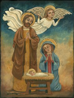 Nativity original painting by Teresa Kogut. Watch me paint it at www.teresakogut.com (on the side bar)