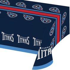 NFL 54 x 102 Plastic Tablecover All Over Print Tennessee Titans/Case of 12 Tags: Tennessee Titans; Tablecover; NFL Tableware; Tennessee Titans party;Tennessee Titans party tableware;Tennessee Titans Tablecover; https://www.ktsupply.com/products/32786326559/NFL-54-x-102-Plastic-Tablecover-All-Over-Print-Tennessee-TitansCase-of-12.html