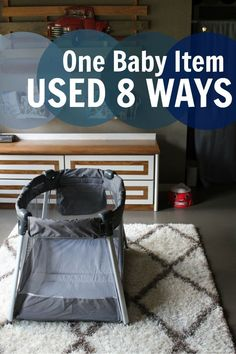 Here's how you can use one popular baby item (the play pen, play yard, or pack n play) 8 different ways. A good read for the mom who is looking for tips on baby gear. #ad