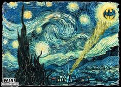 Bat Starry Night Paintings Famous, Famous Artwork, Classic Paintings, Oil Paintings, Framed Wall Art, Framed Art Prints, Wall Art Decor, Vincent Van Gogh, Oil Painting On Canvas