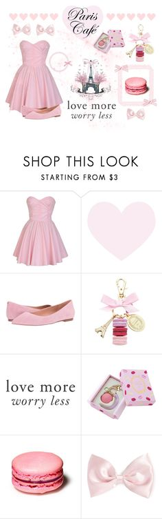 """princess sweet tooth - paris café  ♡"" by fiftiesprincess ❤ liked on Polyvore featuring beauty, Sam Edelman, Ladurée, Love Quotes Scarves and Forever 21"