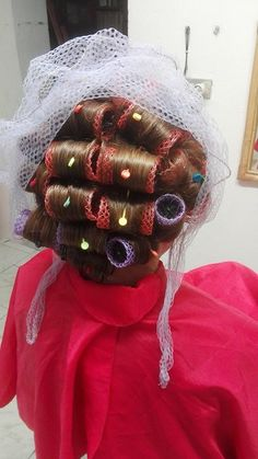 Big Hair Rollers, Roller Set, Curlers, Hair Dos, Hair Beauty, Hair Styles, Beautiful, Gnomes, Public