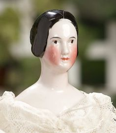 """""""I Only Wanted to Wonder"""" - August 1, 2017: 121 German Porcelain Lady Doll with Painted Brown Eyes and Rare Coiffure"""
