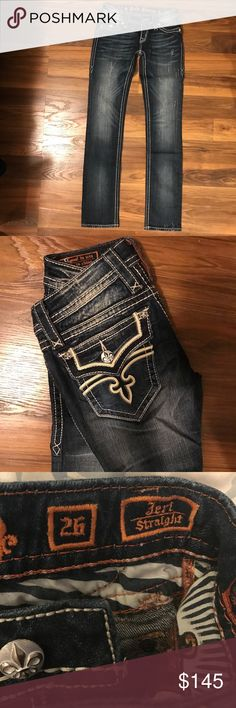"Rock Revival ""Jeri"" Straight Jeans NWOT. Perfect condition. Inseam 32. Comes in original package. Rock Revival Jeans Straight Leg"