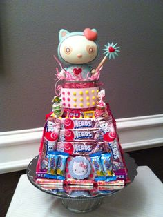 Cute way to display candy party favors...
