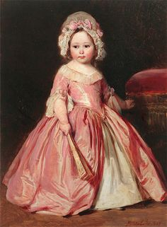 Princess Alice of Great Britain in 18th-Century Costume by Franz Xavier Winterhalter, 1845